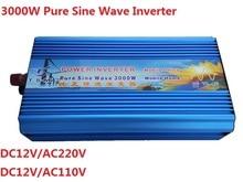 цена на Fedex freeshipping! 3000W / 3KW Off Grid Pure Sine Wave Power Inverter,6000w / 6KW Peak power inverter With Inversor(optional)