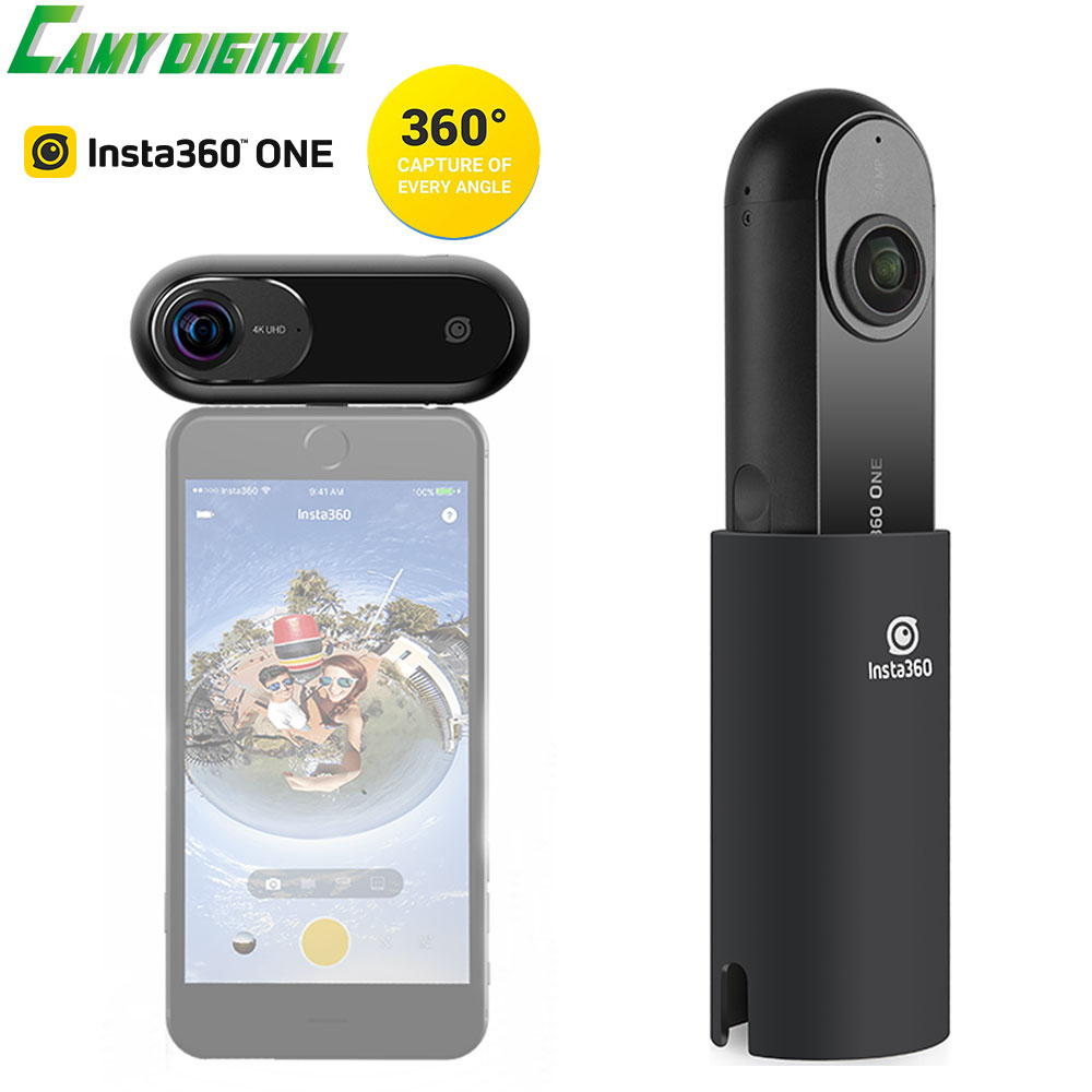 Insta360 ONE 4K 360 degree Panoramic Camera VR Video Sport Action Camera With 24MP High Definition For iPhone ISO System Cam panoramic cx6 0 96 inch tft screen display sport action video camera 8g ir sport hunting camera lens black up to 64gb