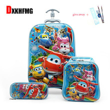 Boy's Car Trolley Case Wheeled Rolling Bag 3D Children Travel Suitcase Trolley School Backpack Kid's Trolley Bags with Wheels цена