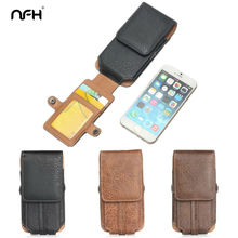 NFH New Men Bag Retro Stone Leather Phone Pouch Case On For iPhone Leagoo M5 Snapdragon 820 Oukite K6000 Pro 4.7-6.3 Inch Phone