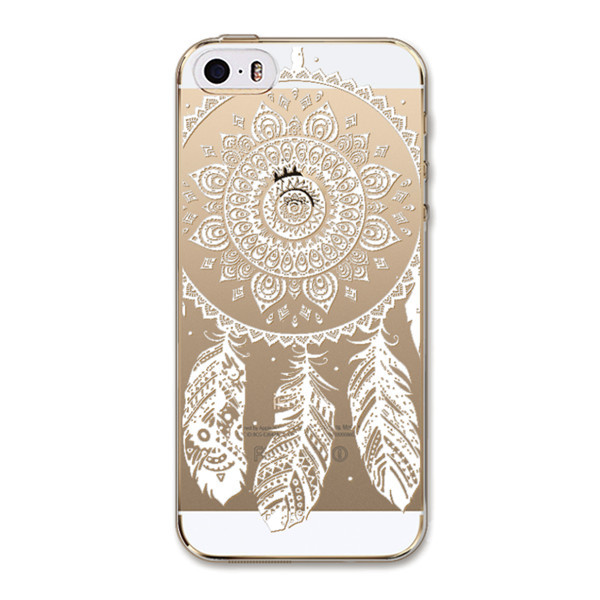 Fashion Wit Henna Bloem Mandala Paisley Bloemen Patroon Clear