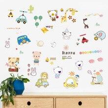 Wall Sticker Animal Cartoon For Kids Room Living Window Kindergarten Decoration on Cute Cool Fashion Stickers
