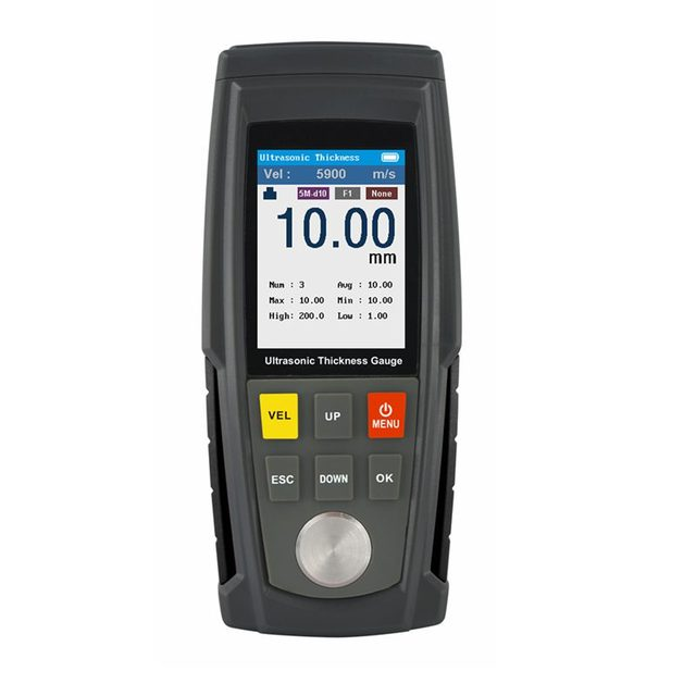Jauge dépaisseur numérique ultrasonique, indicateur de vitesse du son, LCD, pour la tôle, plastique, verre, céramique, testeur gamme de données 1.0 à 300mm