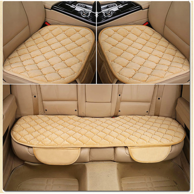 3Pcs Set Thicken Warm Car Seat Cover Winter Automobiles Covers Universal Front Back Upgrad Fur Plush Cushion Chair Pad In From