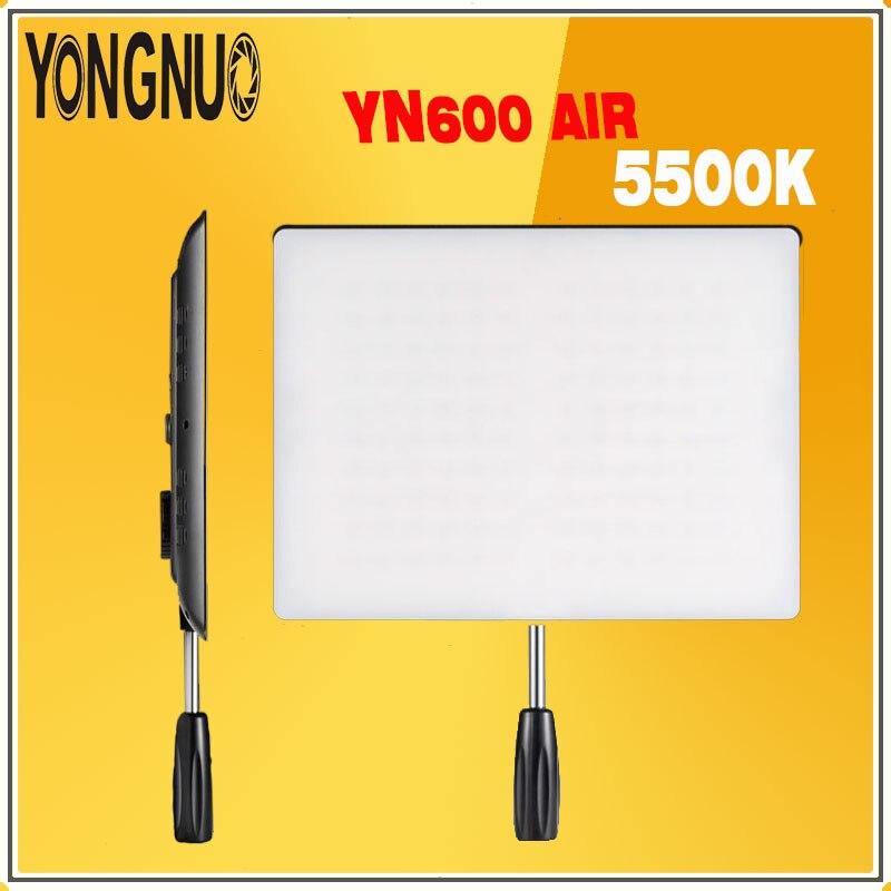 YONGNUO YN600 Air YN-600 Air Ultra mince Led panneau de lampe vidéo 5500 K pour la photographie Studio éclairage et caméra camoder YN600