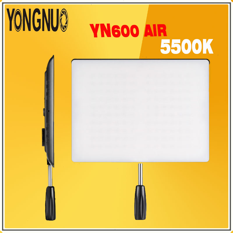YONGNUO <font><b>YN600</b></font> <font><b>Air</b></font> YN-600 <font><b>Air</b></font> Ultra Thin Led Video Light Lamp Panel 5500K For Photography Studio Lighting & camera camoder <font><b>YN600</b></font> image