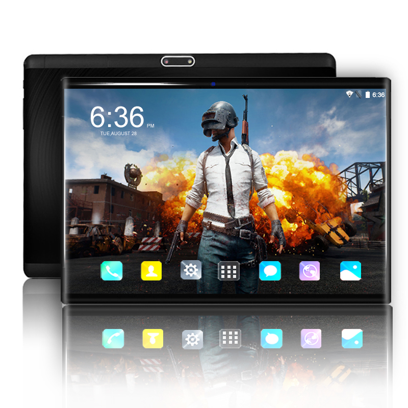 Hot 10 Inch Tablet PC Android 8.0 Octa Core 6GB RAM 64GB ROM 3G 4G Smart Phone 1280*800 IPS WIFI Bluetooth GPS Tablets 10.1+Gift