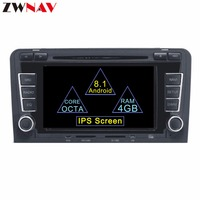 Support Bose system Android 8.1 Car DVD player radio for Audi A3 / S3 2003 2013 with 8 core GPS navigation multimedia stereo