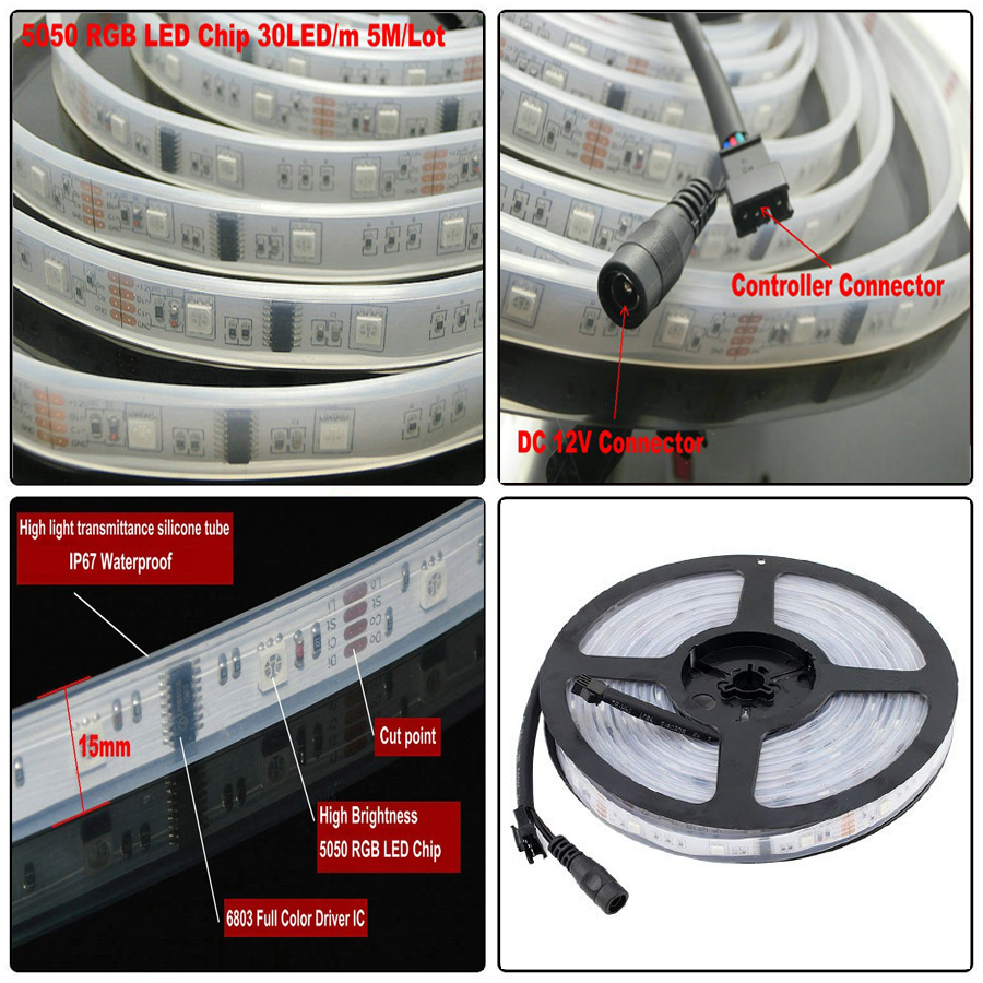 A20 Dc12v 5m 150led Ip67 Waterproof 6803 Ic Smd 5050 Rgb Dream Magic Led Strip Driver Circuit Color In Strips From Lights Lighting On Alibaba Group