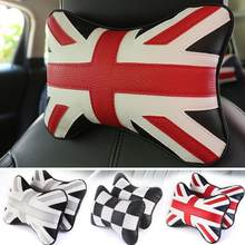 England Flag Car Headrest Pillow Car Head Neck Pillow Seat Back Support Cushion Fit For BMW Mini Countryside Toyota Honda Opel(China)