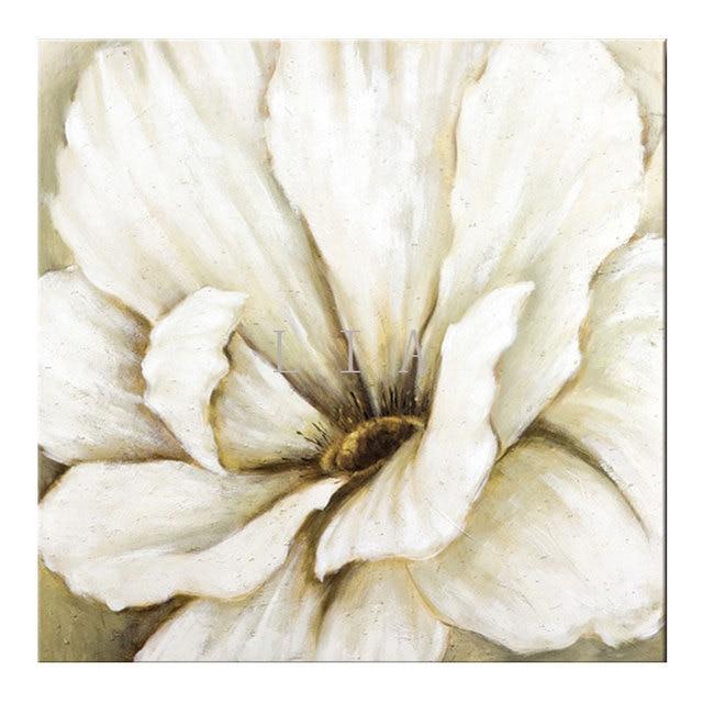 1 UNID flor blanca colorante de pintura imagen de la sala de pared ...