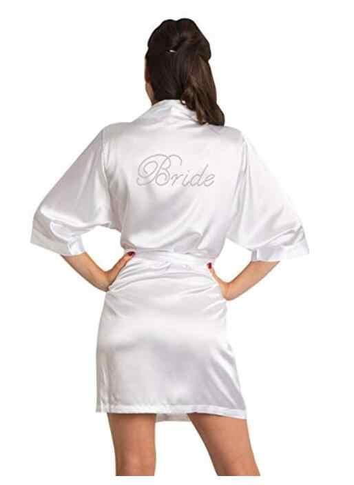 80ba904ef0925 bridesmaid Robe Wedding Bride Women Sleepwear nightwear White Bridal Dress  Bathrobe Night dress Sleepwear Nightgown Home Wear