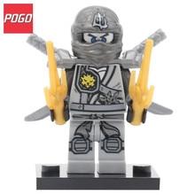 POGO Ninjagoinglys Super Hero Titanium Alloy Ninja Brick Toys Action Building Block Model Set Single Sale