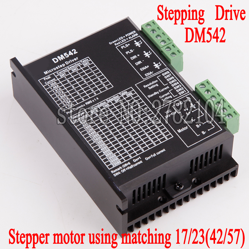 DM542 Stepper Motor Controller Leadshine 2-phase Digital Stepper Motor Driver 18-48 VDC Max. 4.1A for 57 86 Series Motor dm542 stepper motor controller leadshine 2 phase digital stepper motor driver 18 48 vdc max 4 1a for 57 86 series motor