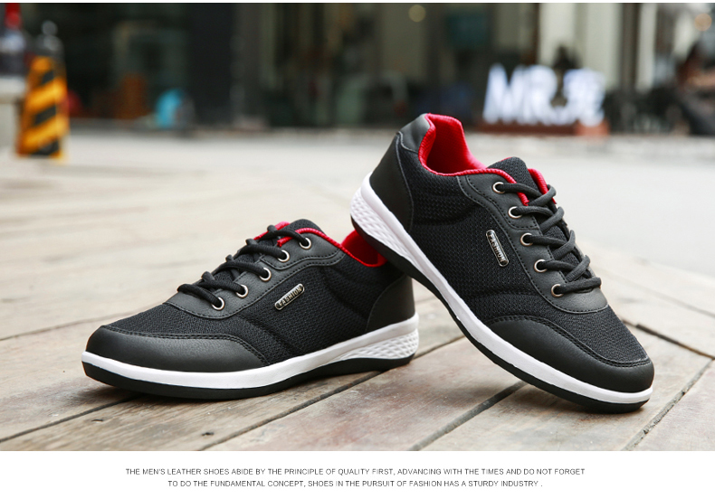HTB1UV.OONjaK1RjSZFAq6zdLFXav 2019 Autumn New  Men Shoes Lace-Up Men Fashion Shoes Microfiber Leather Casual Shoes Brand Men Sneakers Winter Men FLats