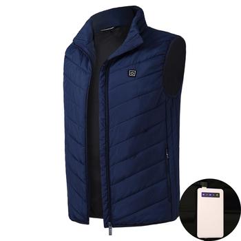 2019 mężczyźni kobiety elektryczna podgrzewana kamizelka ogrzewanie kamizelka termiczna ciepła odzież piórko gorąca sprzedaż zimowa kurtka ocieplana nowa technologia tanie i dobre opinie COTTON Termiczne BX74 Pasuje prawda na wymiar weź swój normalny rozmiar Moc suche S M L XL XXL 3XL 4XL black blue gilet chauffant