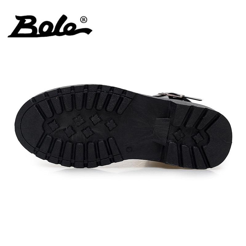 Boots Plana Mão Homens Up Lace Estilo branco Ankle Sapatos Moda Bole Preto Em À De Botas Deslizamento Causal Design Feitos Couro Britânico xS55H7AwYq