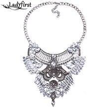 Ladyfirst 2016 Nuevo Maxi Collar y Colgante de Collar de Gargantillas de Metal de La Vendimia de Las Mujeres 3 Colores Collar Llamativo Joyería Al Por Mayor de 3979