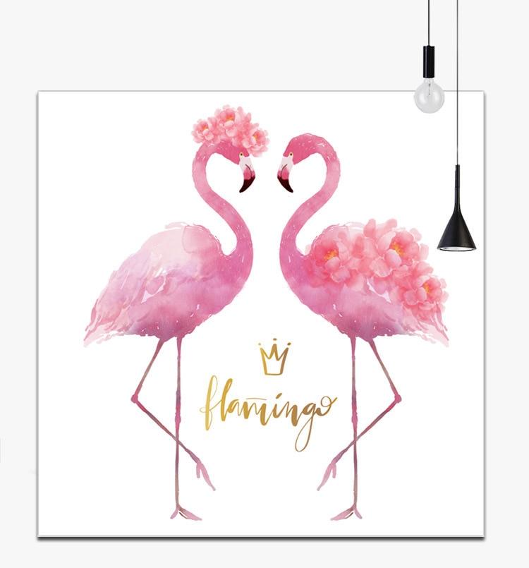Needlework,DIY Cross Stitch Embroidery Kit Set Pink Kiss Flamingo Bird Print Pattern Cross-stitch Handwork Painting Wedding Gift