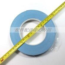 2 stks x Blauw Hittebestendig Dubbelzijdig Sticker voor TV backlight LED Strips Terug Tape 14mm (W) x 50 m (L)