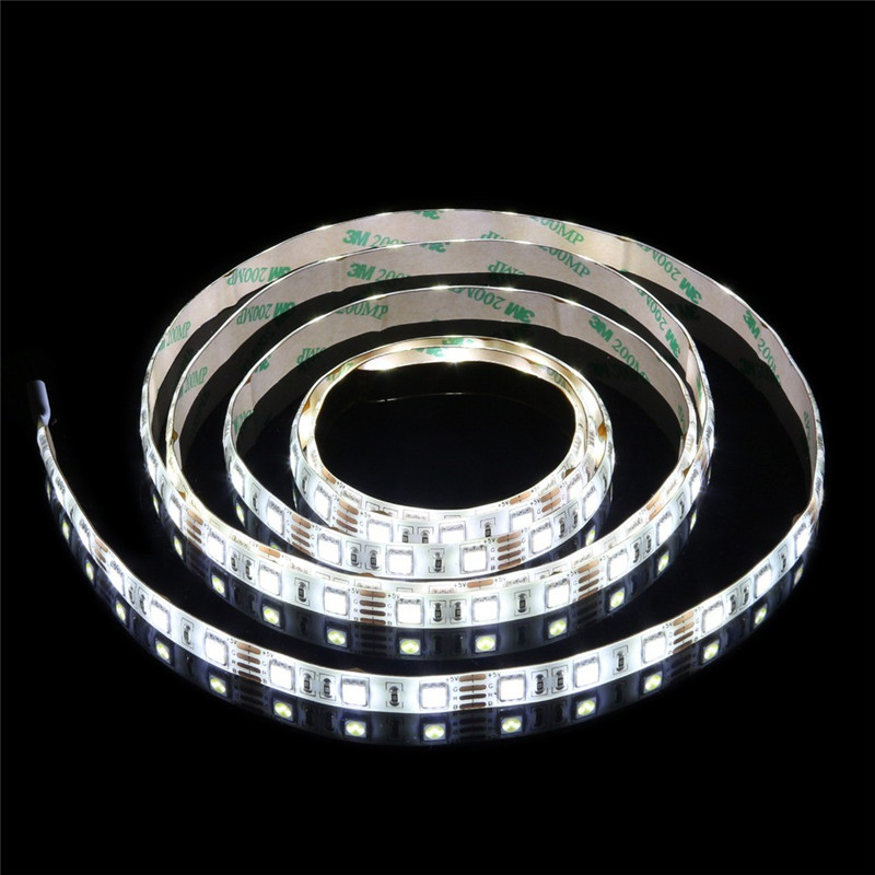 5V USB kabel LED traka svjetla topla bijela crvena plava zelena RGB - LED Rasvjeta - Foto 3