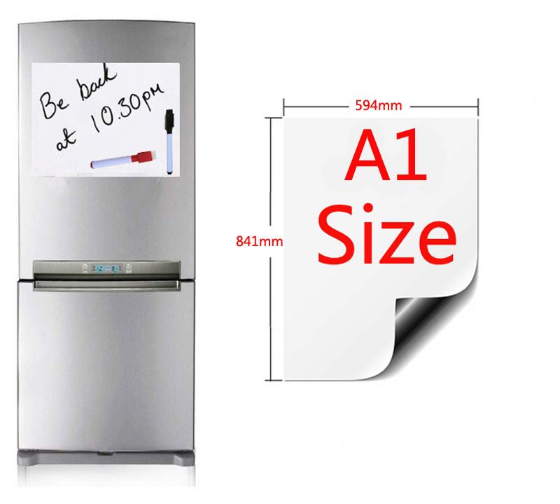 Magnetic Whiteboard A1 Size 594x841mm Fridge Magnets Presentation Boards Home Kitchen Message Boards Writing Sticker