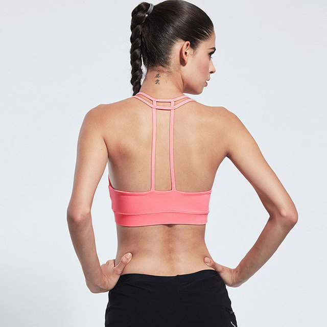HEAL ORANGE Classic Women's Sport Bra With Pad No-Bounce Full-Support Sport Comfort No Rims Unbound Lady's Yoga Running Gym Bras