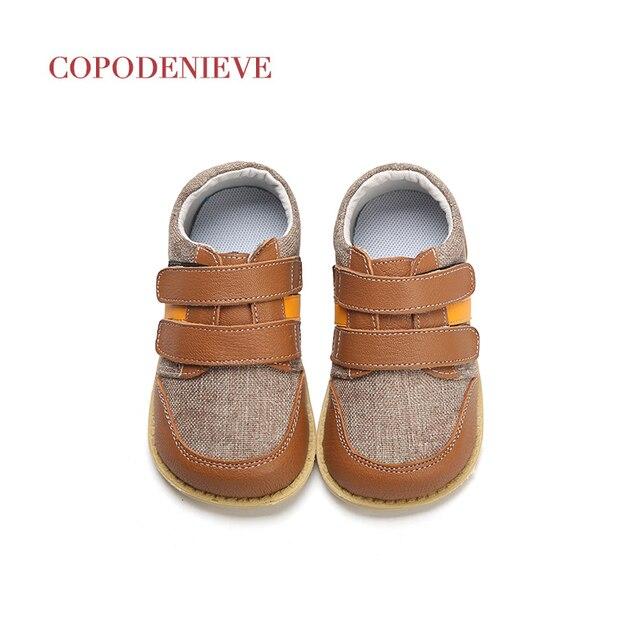 COPODENIEVE בני נעלי אביב סתיו עור מפוצל פעוט הילדים ופרס מוקסינים מוצק אנטי להחליק נעלי ילדים לנערים