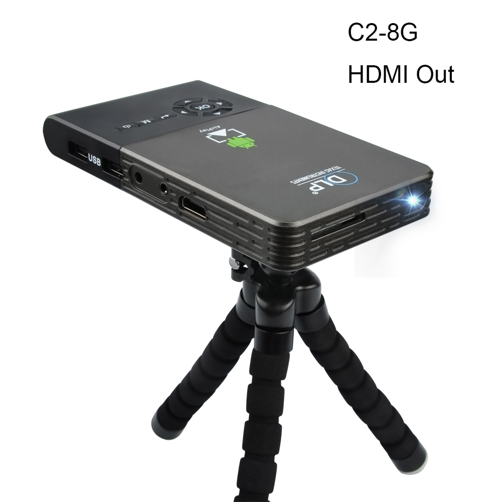 Prix pour OTHA M6/C2 100 ANSI Mini LED Projecteur Android 4.4 WiFi Bluetooth Intelligent DLP 1080 P Accueil Beamer Soutien AirPlay Miracast 8/16/32G