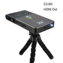 OTHA M6/C2 100 ANSI Mini LED DLP Proyector Android 4.4 WiFi Bluetooth Inteligente 1080 P Hogar Beamer Soporte AirPlay Miracast 8/16/32G