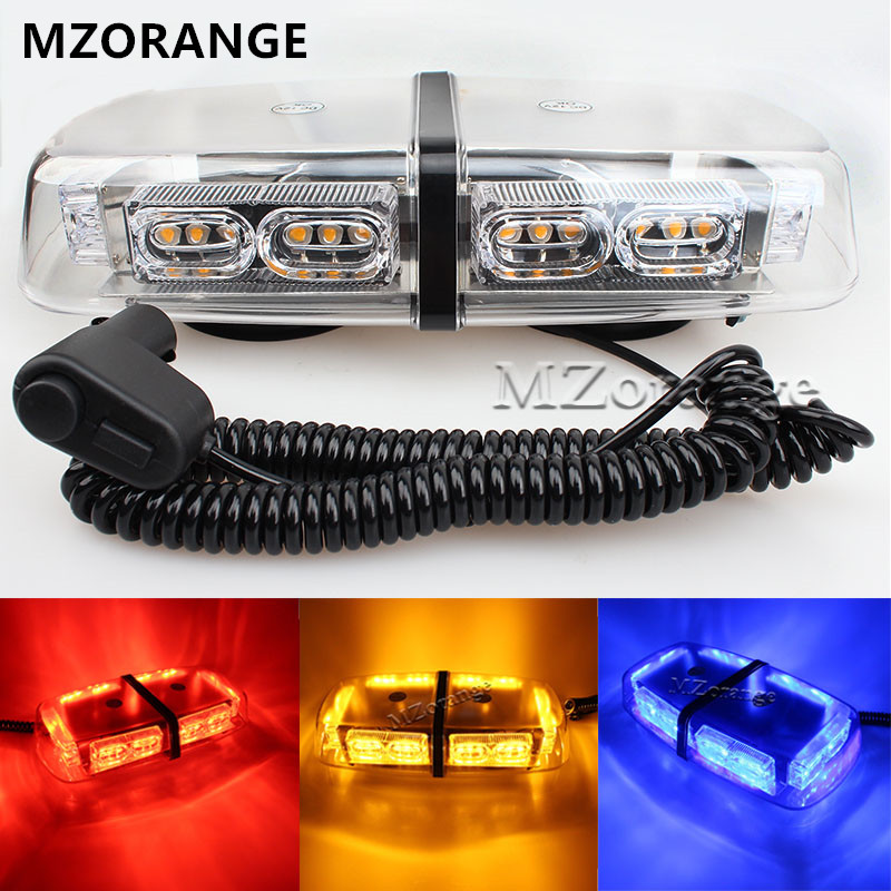 MZORANGE Newest DC 12V 36 LED Car Roof Flashing Strobe Emergency Light Truck Police Fireman Warning Lights Yellow,Blue,Red,White 1set 240 led car roof flashing strobe emergency light dc 12v 20w truck police fireman warning lights blue