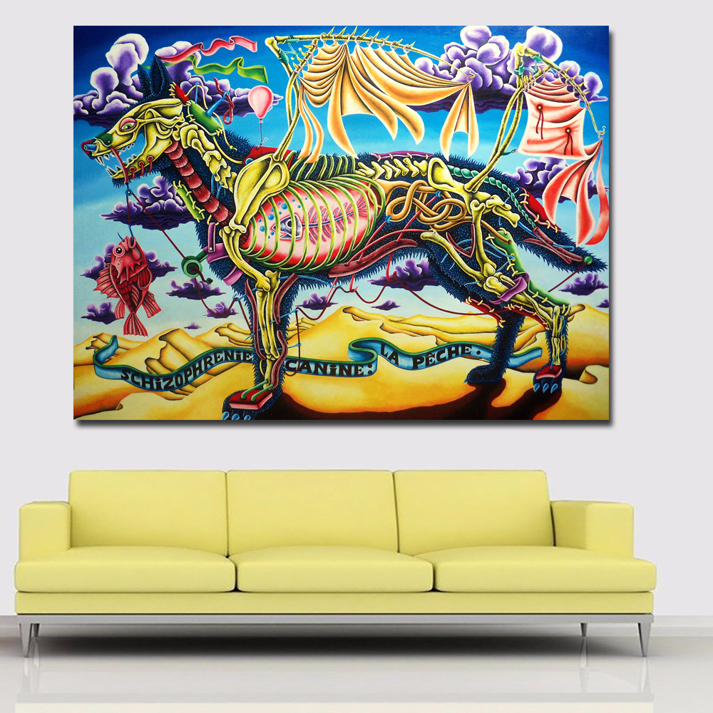 Abstract Art Prints Posters Colorful Animal Painting Fantastic ...