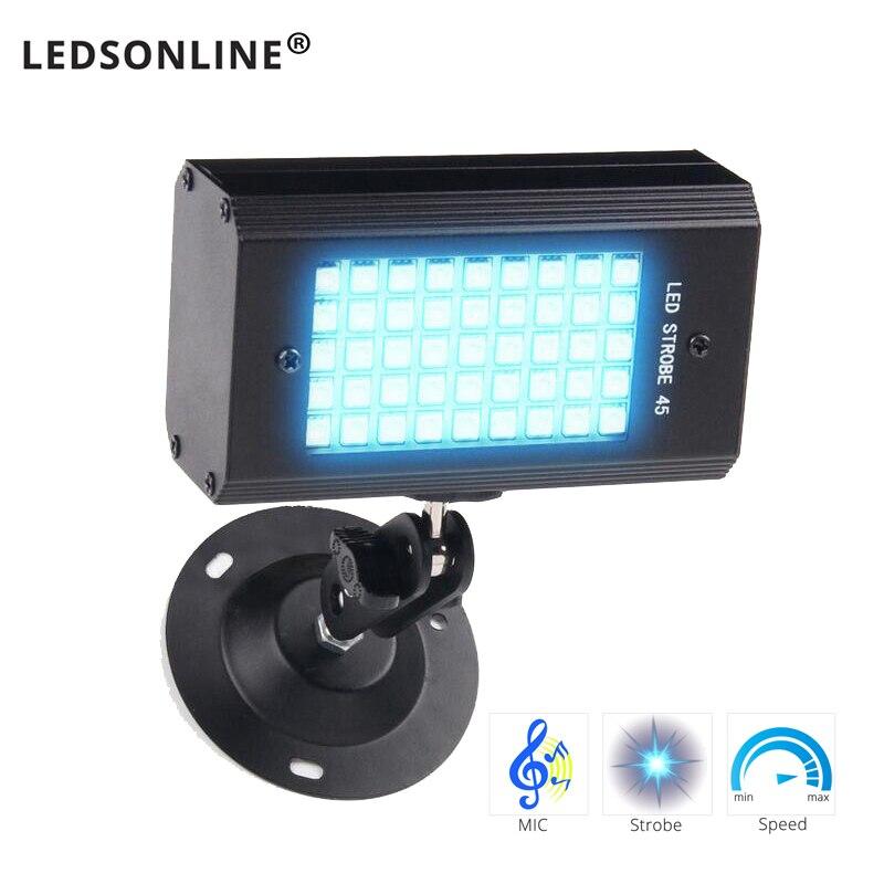 Disco Lighting Stroboscope Party Lights RGB Color Light Music Laser Projector Disco Lights For Home USB 5V/ 110V 220V EU US Plug