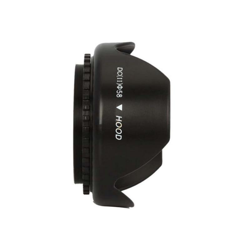 """58 מ""""מ UV מסנן עדשת כובע כותרת עדשת הוד עבור ניקון Canon EOS 1100D 650D 600D 550D ברדסי עדשה אוניברסלי מצלמה עדשות אבזרים"""