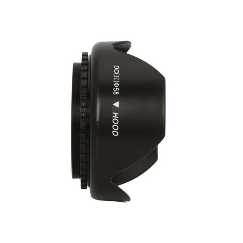 58mm UV Filter Lens Cap Petal Lens Hood for Nikon <font><b>Canon</b></font> <font><b>EOS</b></font> 1100D 650D 600D <font><b>550D</b></font> Lens Hoods Universal Camera Lenses <font><b>Accessories</b></font> image