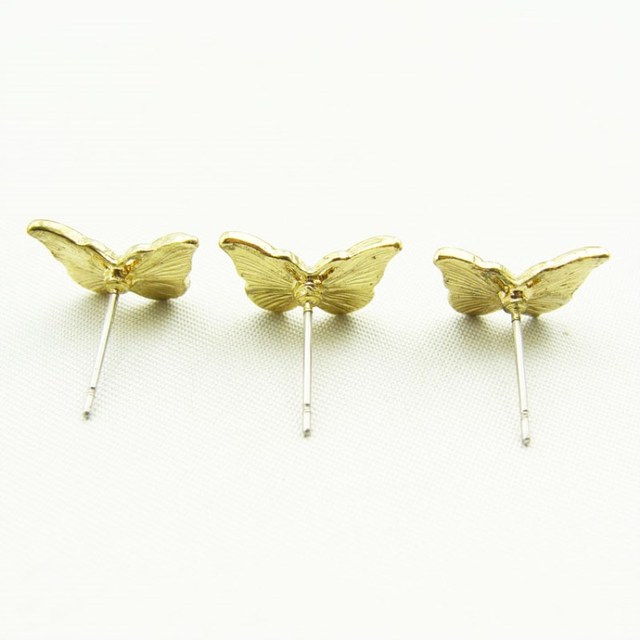 Timlee E065 Free shipping Simple Delicate Dripping Oil Butterfly Alloy Studs Earrings Fashion Jewelry wholesale.jpg 640x640 - Timlee E065 Free shipping Simple Delicate Dripping Oil Butterfly Alloy  Studs Earrings Fashion Jewelry wholesale