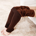 1PCS Autumn and winter 300g keep warm Tights Solid colour Polyester High women elasticity leddings foot pants with plush #1532
