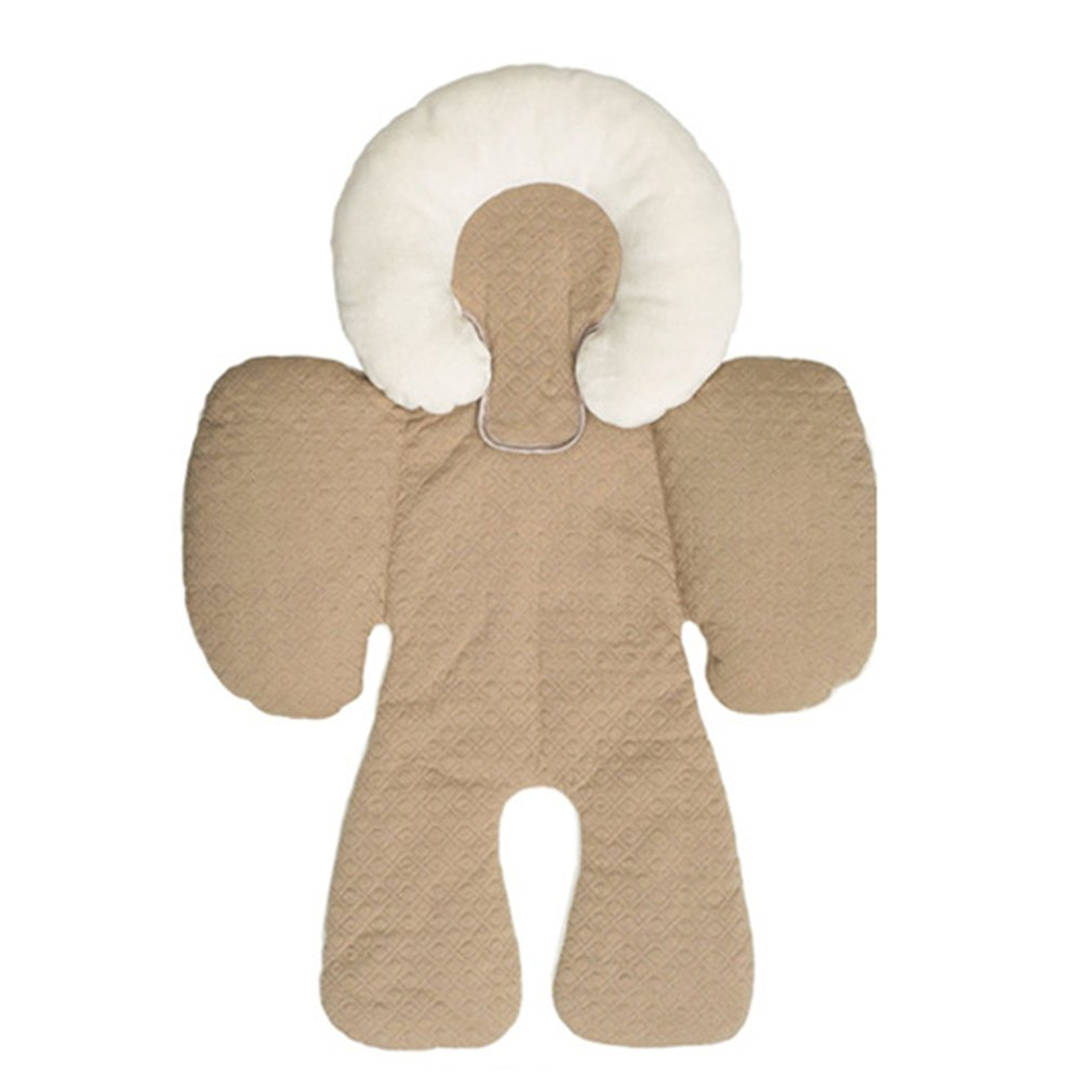 Hot ! Baby Strollers Head Body Support Pad Mat Dual Sided Use Safety Cushion Rattle Baby Car Seat Stroller Protection Accessory