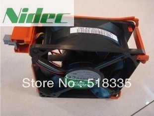 Nidec TA350DC M35556-35 DC 12V 1A Server Cooling Fan For PowerEdge 1900 2900 C915 Square Fan 4-wire original for nidec ta550dc a34885 90 14070 12v 5 0a server cooling fans