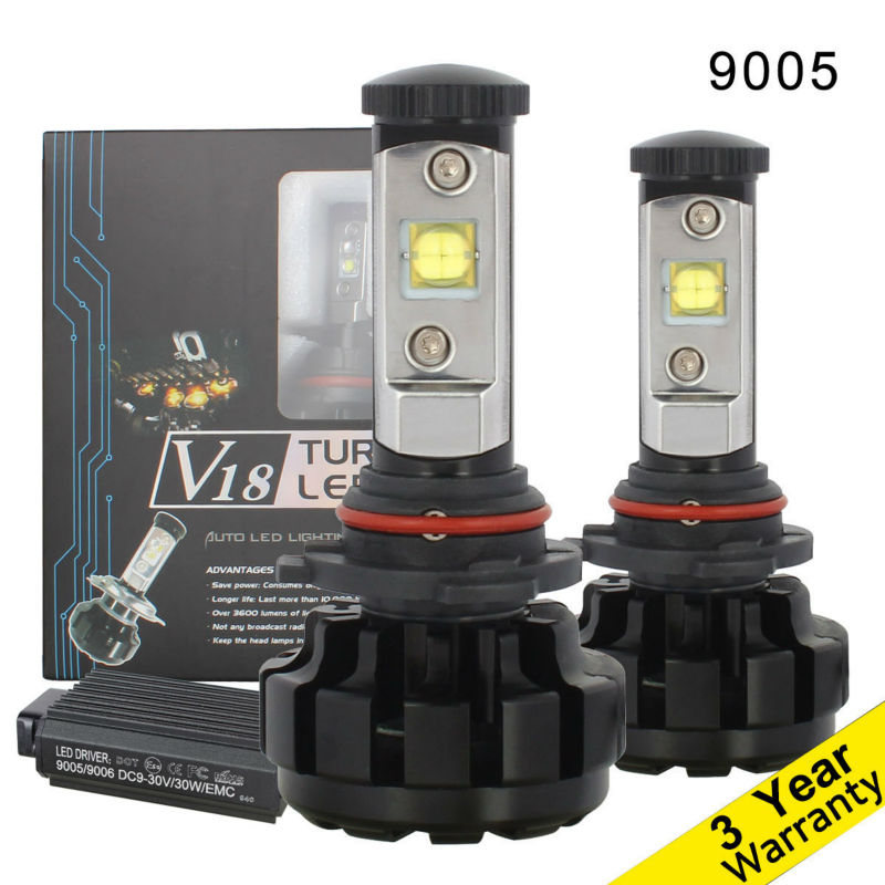 9005 60W/Set LED Car Headlights HB3 Auto High Beam Light 7200LM/Set with CREE Chip MK-R DC 12V 24V