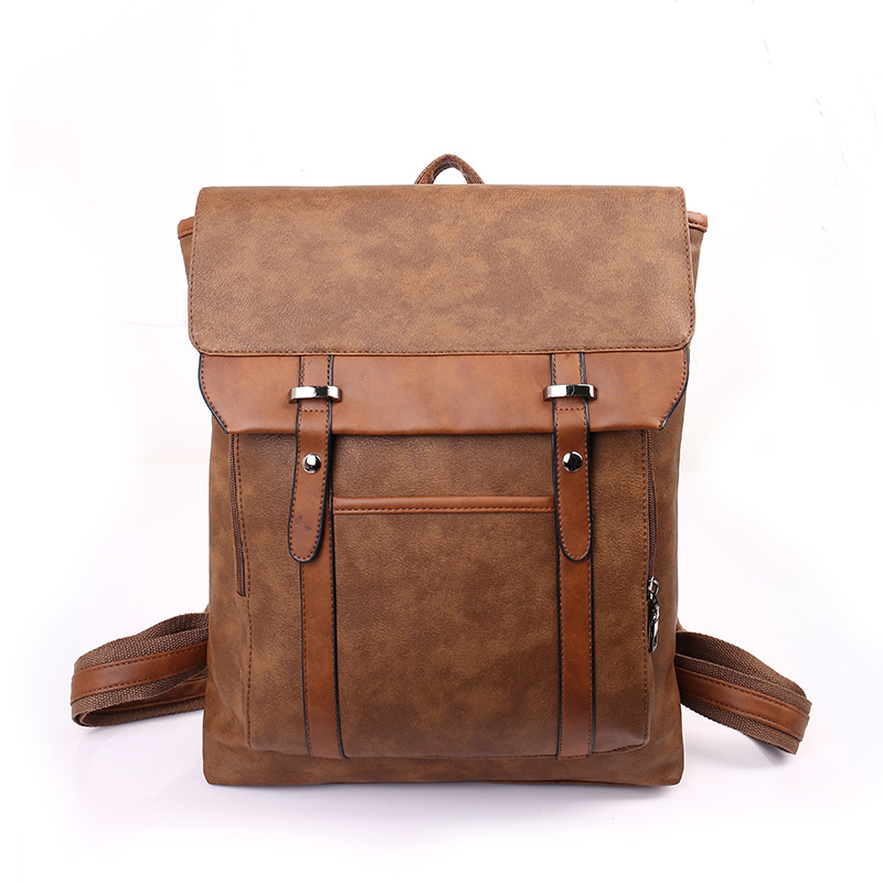 ФОТО Cowboy style vintage backpack College style man's leisure travel bag high quality Contracted fashion book bag school lbag