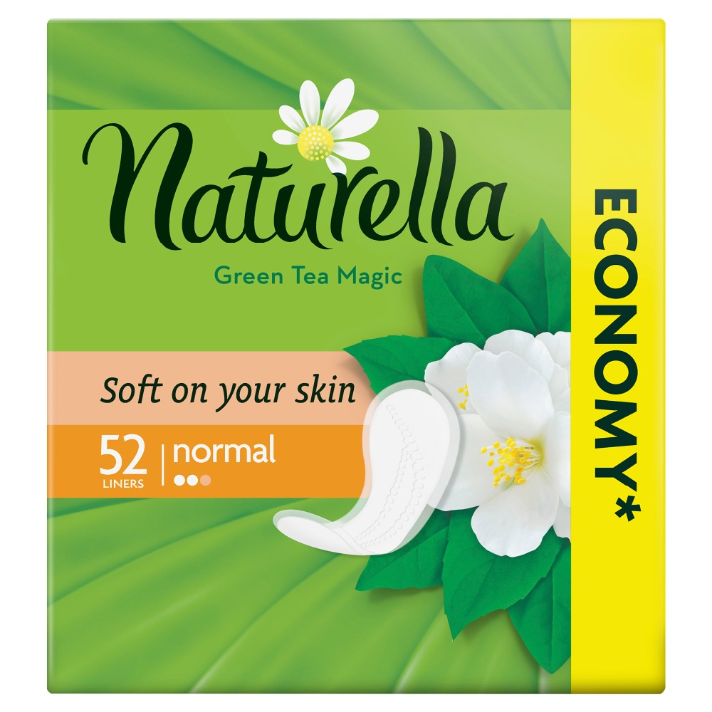 US $2 3 21% OFF|NATURELLA Women's sanitary pads for every day Green Tea  Magic Normal (with the aroma of green tea) Trio 52pcs-in Feminine Hygiene