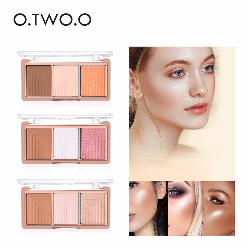 O.TWO.O 4 Colors Face Highlighter Powder 3D Face Contour Blush Palette Contour Compact Face Base Powder Makeup Cosmetics 9117 все цены
