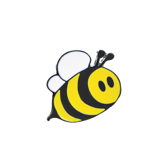Super Cute Happy Bumblebee Honey Bee Hat Lapel Pins Enamel Pin  WH41