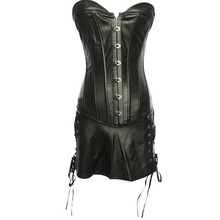 Gothic Corset Mini Dress Faux Leather Corset Dress PLUS SIZE 6XL overbust steampunk lingerie corsets and bustiers-in Bustiers & Corsets from Underwear & Sleepwears on Aliexpress.com | Alibaba Group