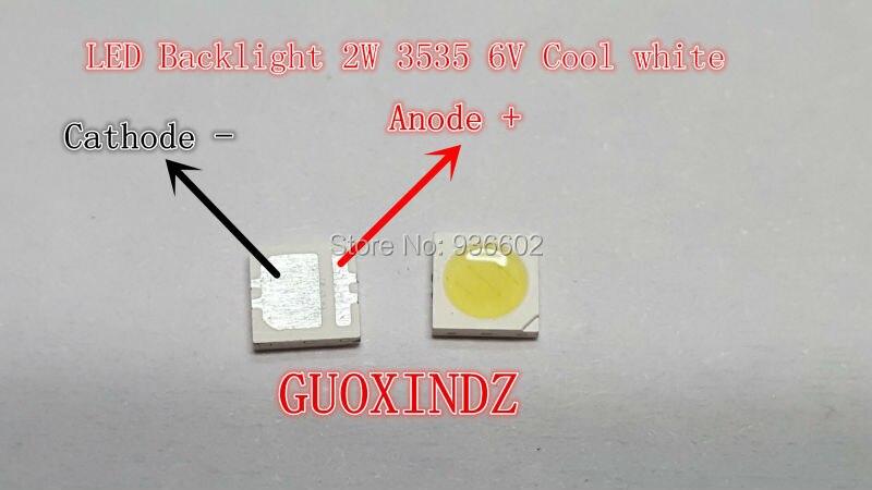 SEOUL High Power LED LED Backlight 2W 3535 6V Cool white 135LM LCD Backlight for TV