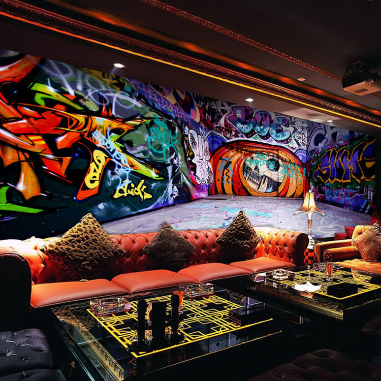 Custom 3d mural 3D graffiti wallpaper personalized art retro abstract cafe bar KTV living room bedroom wallpaper mural european style murals ktv bar cafe personalized wallpaper abstract wallpaper living room sofa arts wallpaper mural
