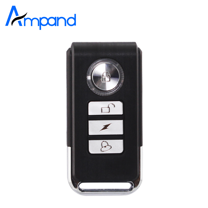 Ampand Key Bicycle-Vibration-Spot-Alarm Remote-Controller Our Wireless for Door-Security-Alarm