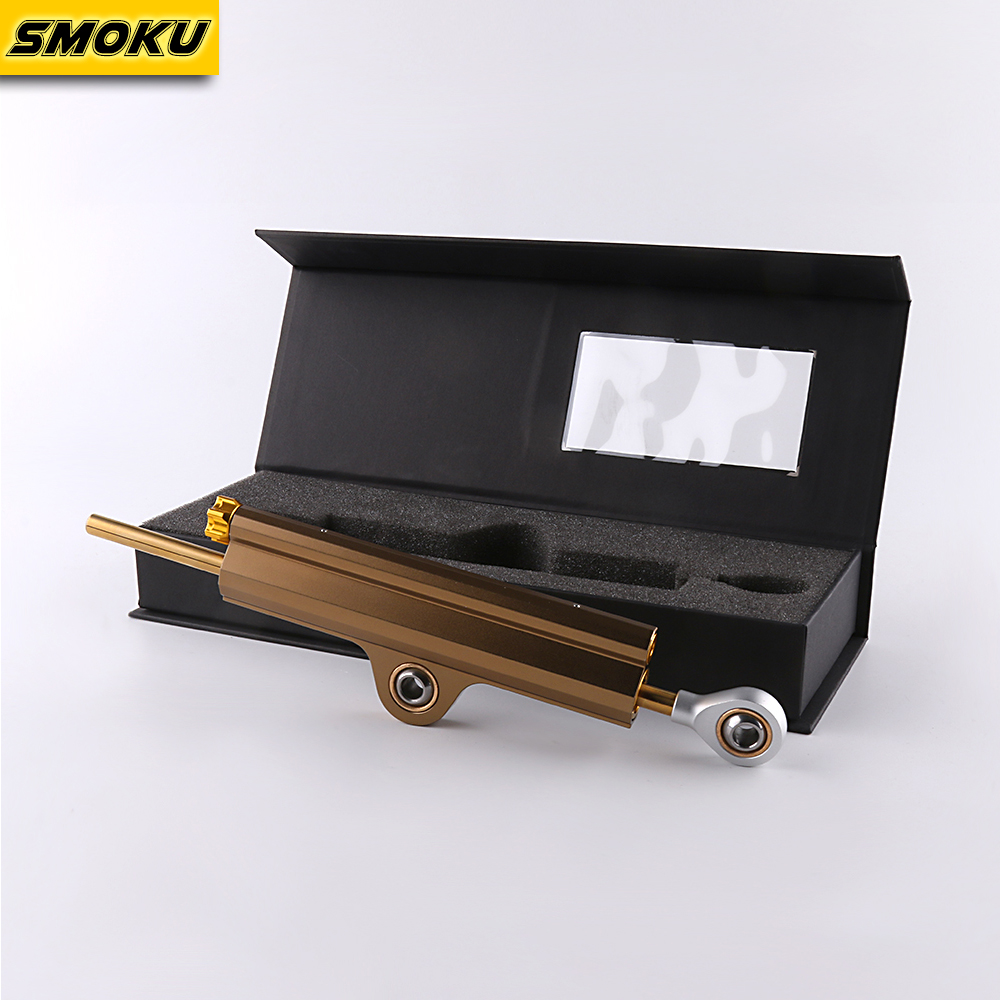 Universal Dark Gold Motorcycle Adjustable Steering Damper Stabilizer for all race bikes Kawasaki Ducati Suzuki adjustable steering damper