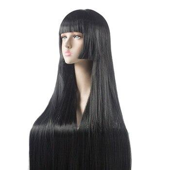 HSIU nueva Alta Calidad HELL GIRL Cosplay peluca AI disfraz ENMA jugar pelucas Anime juego Halloween fiesta pelo envío gratis